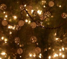 Christmas Beads and lights by J6Blondie