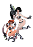 The Dirty Pair by quotidia