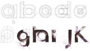 mechanical font by robal