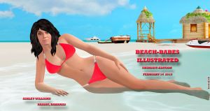 Ashley Williams  BEACH-BABES ILLUSTRATED 2-22-2015 by blw7920