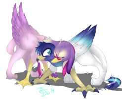Princess Cadence and Shining Armor Griffons by FarewellDecency