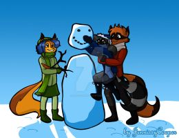 Do you wanna build a snowman? by JennissyCooper