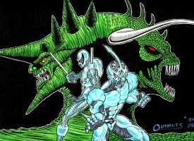 Cyborin and the Guyver by DaddyQBall