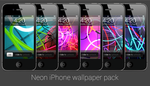 Neon iPhone wallpaper pack by Nabucodorozor