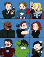 The Avengers Bunch by PredieNerdie