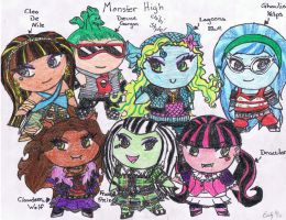 Monster High Chibis by emii-rawr