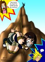 Yuffie On the Rocks by caocaothedeciever