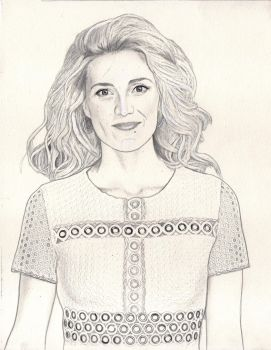 Evelyne Brochu (Graphite Drawing) by julesrizz