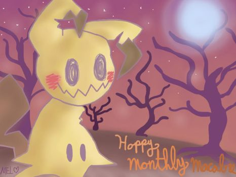 Monthly Macabre: Pika-Boo by KwaziiCat