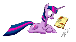 Twilight Sparkle Reading by Theorous