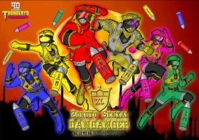Zokuto Sentai DANGANGER wallpaper version by thunderyo