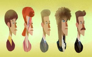 Bowie in Time by bearmantooth