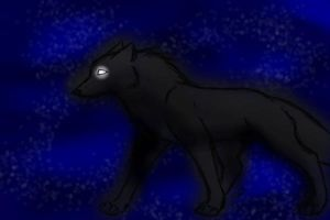 Night Wolf -Color-In- by xXxAbyssQueenxXx