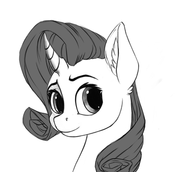 Rarity Portrait by Vistamage