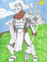 me as a white queen knight by ninjakensei
