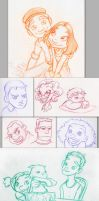 Sketch-a-Day: February 2013 by RinRenee