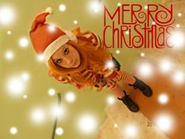 One Piece Nami Christmas Cosplay by NamiTheQueen13