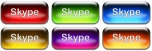 Skype icon set aqua by THE-GREMLIN