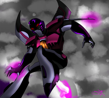 Starscream: Up in the sky :colored: by Jaggerjo12