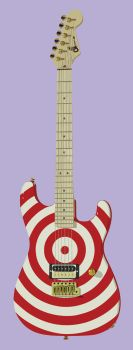 Party On Candy Guitar by Der-Coven-Designs