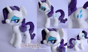 Rarity custom plush by Chibi-pets