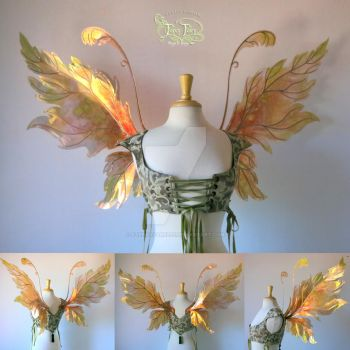 Acorn Leafy Iridescent Fairy Wings by FaeryAzarelle
