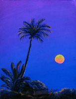 Goa Sunset 2010  Moonrise by Anastasia-Artist