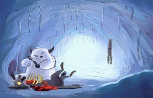 Wampa Curiosity by reelzmanimation