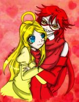 AT: Author and Grell by Danielle-chan