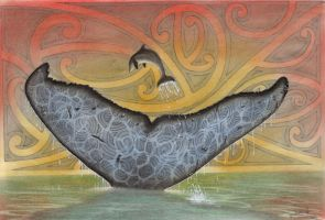 Maori Whale Tail by JohnHLynch