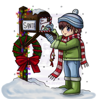 Timothy Letter to Santa Colored by OtakuEC