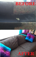 Painted Couch Tutorial by HoneyCatJewelry