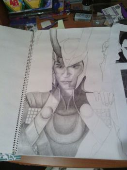 Loki WIP by BubblyEllie