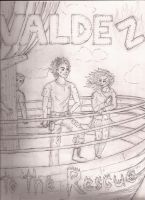 Leo Frank and Hazel on the Argo 2 (Uncoloured) by Larry-and-Lazel