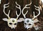 Twin Artemis Leather Masks by b3designsllc