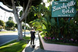 Joey B at Beverly Hills Hotel by Cyril-Helnwein
