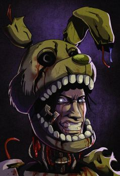 FNAF - Off with the mask (Springtrap) by LadyFiszi