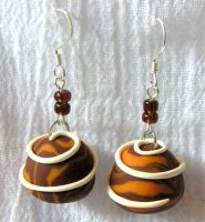 Chocolate Cake Earrings by lavadragon