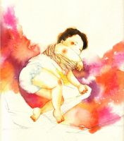 Watercolor: sleeping dance by muttiy