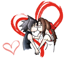 Zack x Aerith - Sweet Kiss by Quco