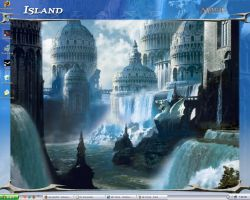 Ravnica Island Background by Whispered-Time