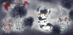 Pura the Introverse Female  Espurr and Meowstic by KingFlurry