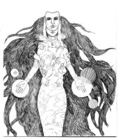 The Sorceress - BW version by speedtribes