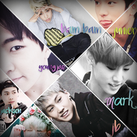 GOT 7 - Collage by dayna22