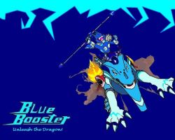 Blue Booster Wallpaper by crescentwolf01