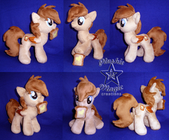 COMMISSION: Cinnamon Toast OC 10 inches plushie by SunflowerTiger