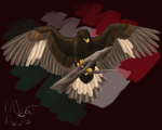 Mexican Golden Eagle by NishaBird