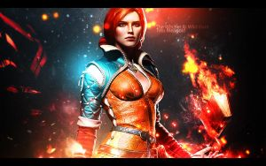 Triss Merigold - The Witcher III: Wild Hunt by jdslipknot