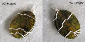 Abstract Pendant - Wire Wrapped by PurlyZig