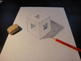 3D cube by SpeedingSnail